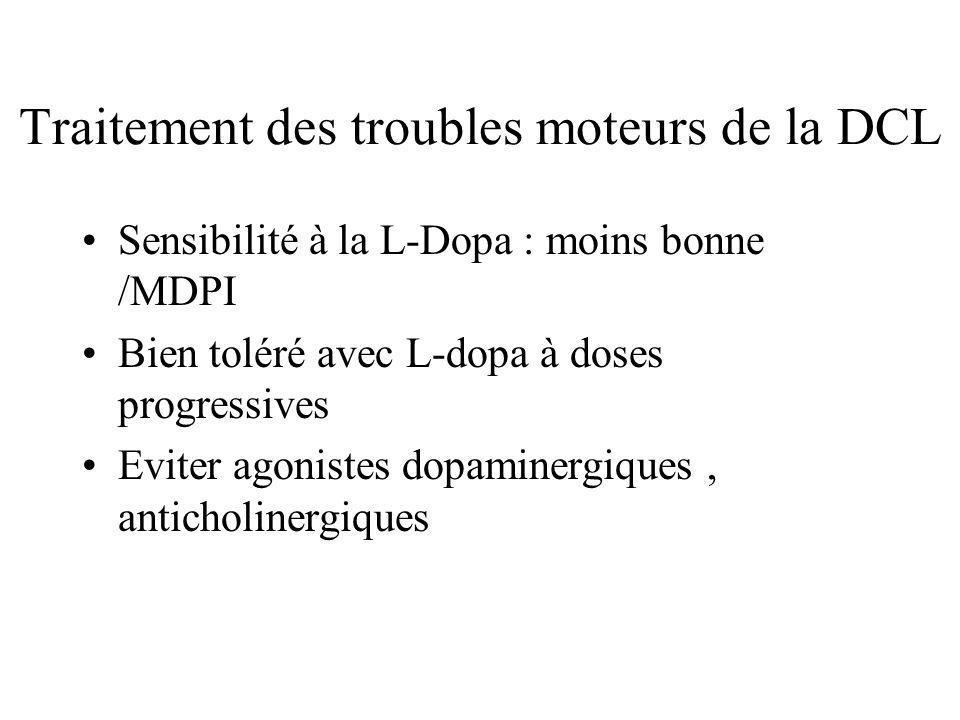 Traitement des troubles moteurs de la DCL