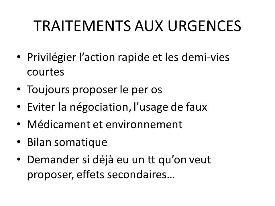 TRAITEMENTS AUX URGENCES