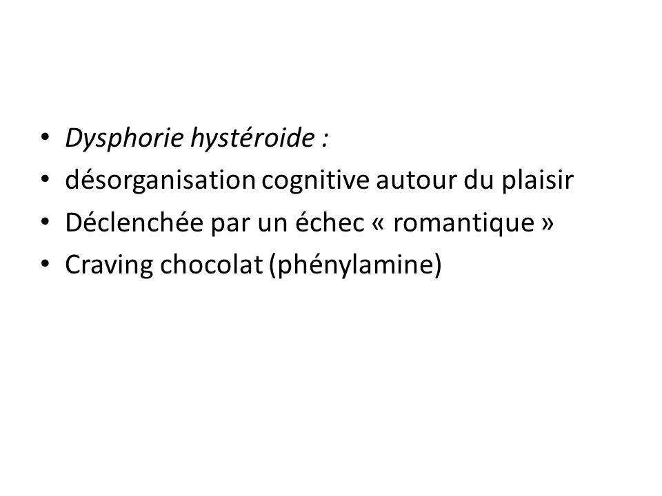 Dysphorie hystéroide :