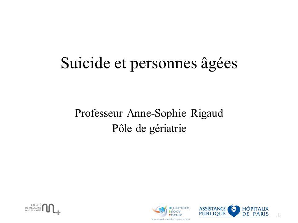 Suicide et personnes âgées
