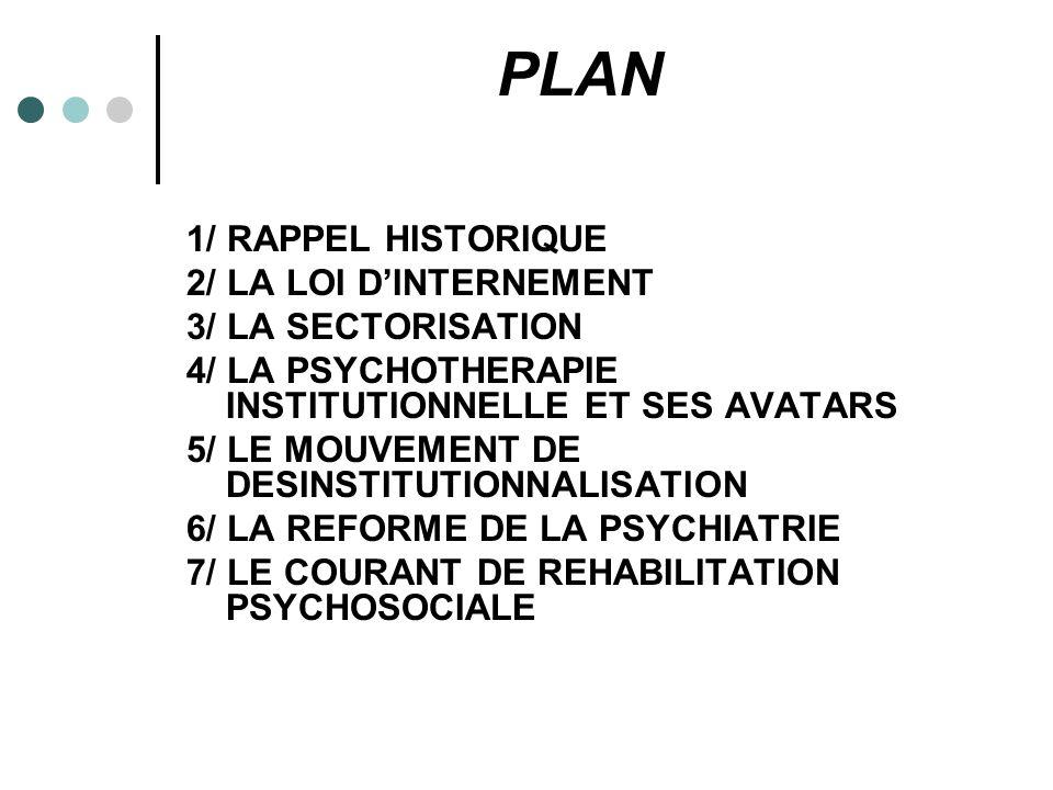 PLAN 1/ RAPPEL HISTORIQUE 2/ LA LOI D'INTERNEMENT 3/ LA SECTORISATION