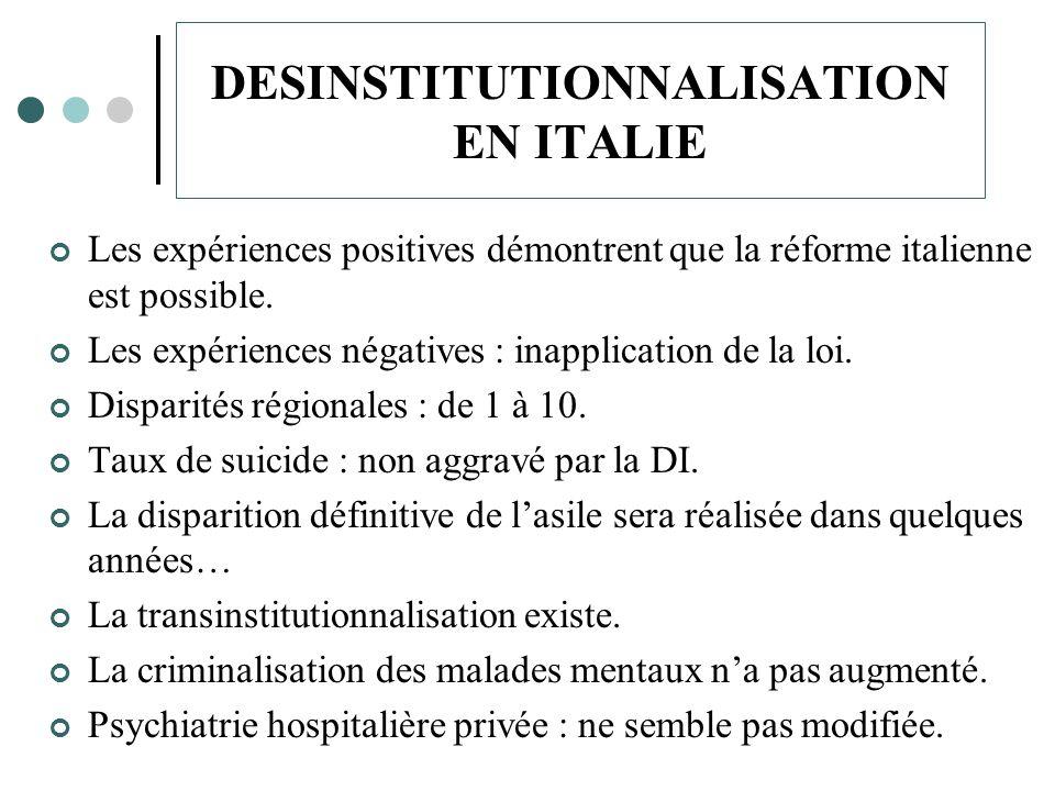 DESINSTITUTIONNALISATION EN ITALIE