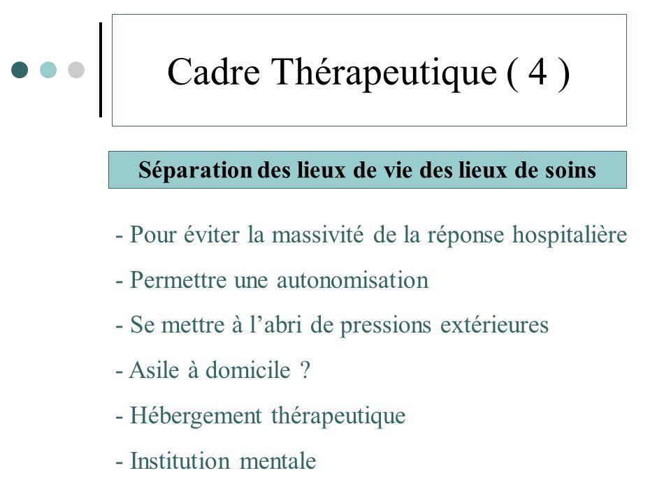 Cadre Thérapeutique ( 4 )