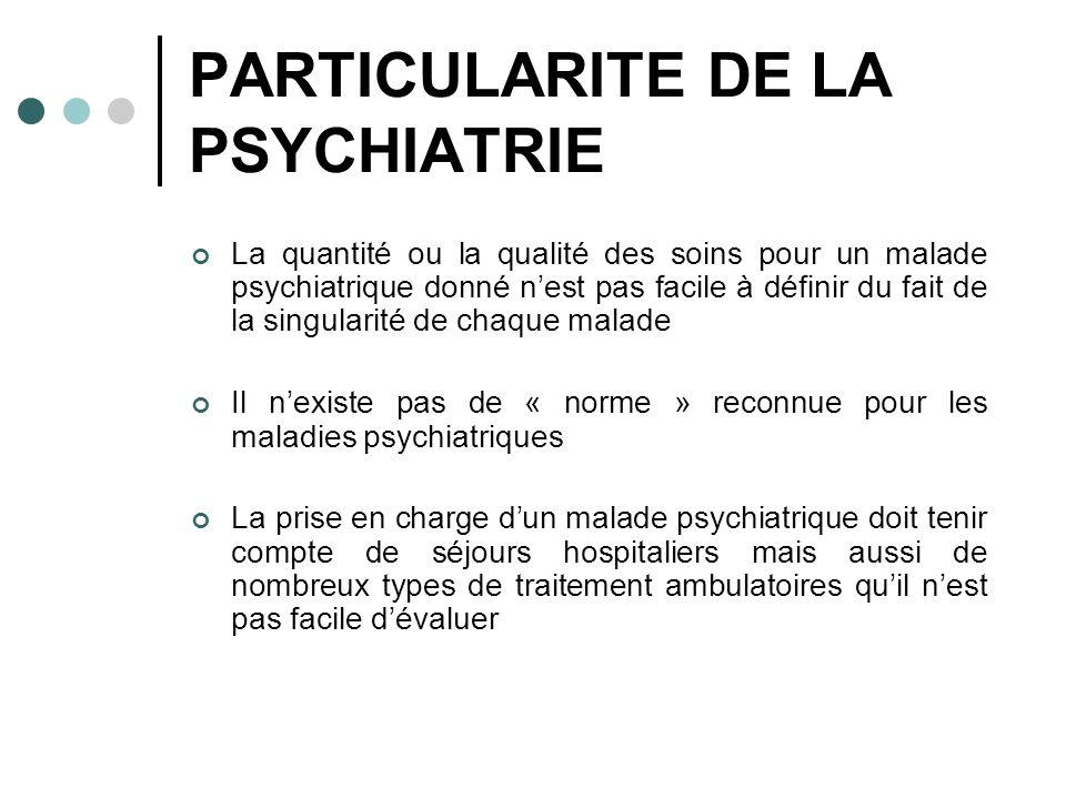 PARTICULARITE DE LA PSYCHIATRIE