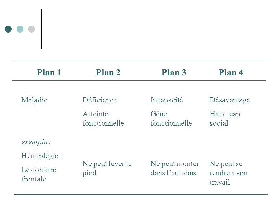 Plan 1 Plan 2 Plan 3 Plan 4 Maladie exemple : Hémiplégie :