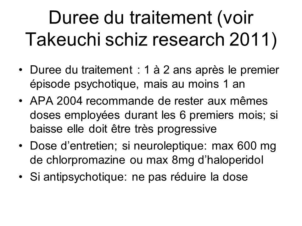 Duree du traitement (voir Takeuchi schiz research 2011)