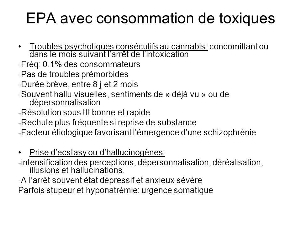 EPA avec consommation de toxiques