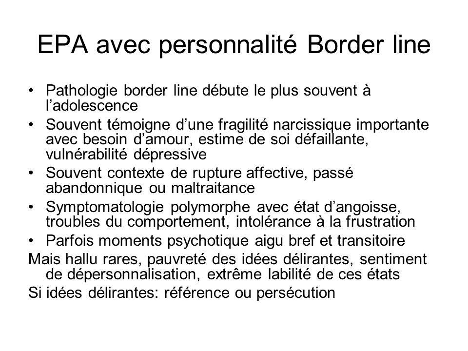 EPA avec personnalité Border line