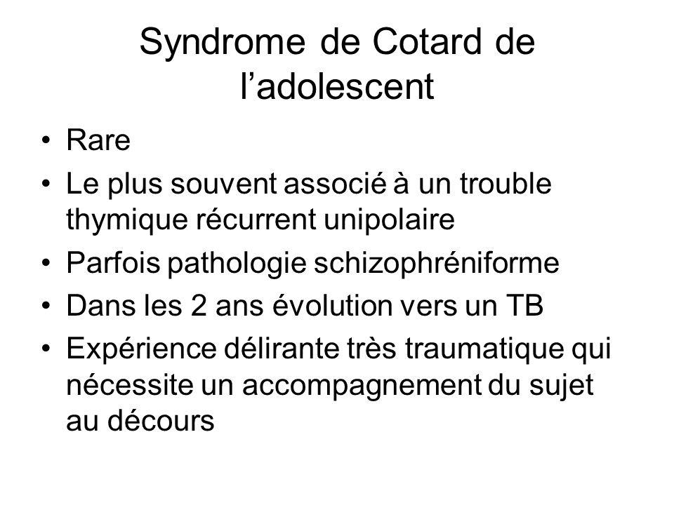 Syndrome de Cotard de l'adolescent