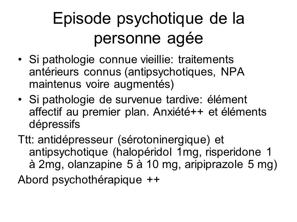 Episode psychotique de la personne agée