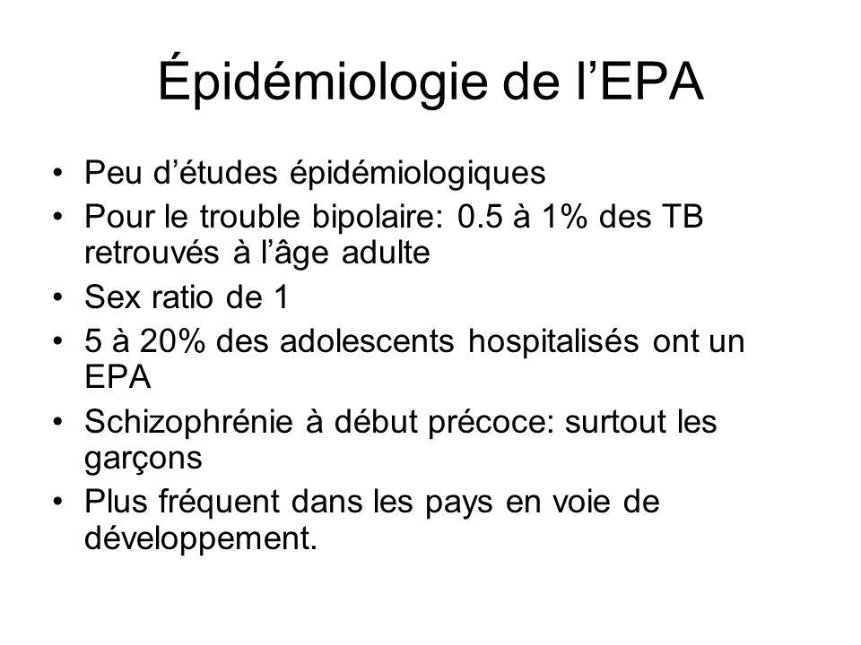Épidémiologie de l'EPA
