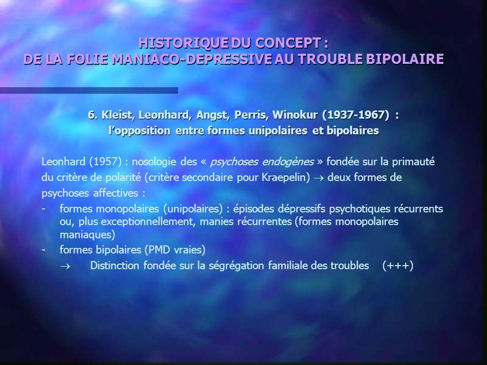 HISTORIQUE DU CONCEPT : DE LA FOLIE MANIACO-DEPRESSIVE AU TROUBLE BIPOLAIRE