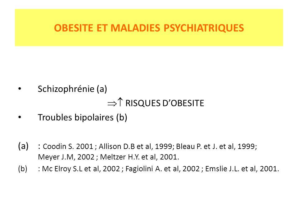 OBESITE ET MALADIES PSYCHIATRIQUES