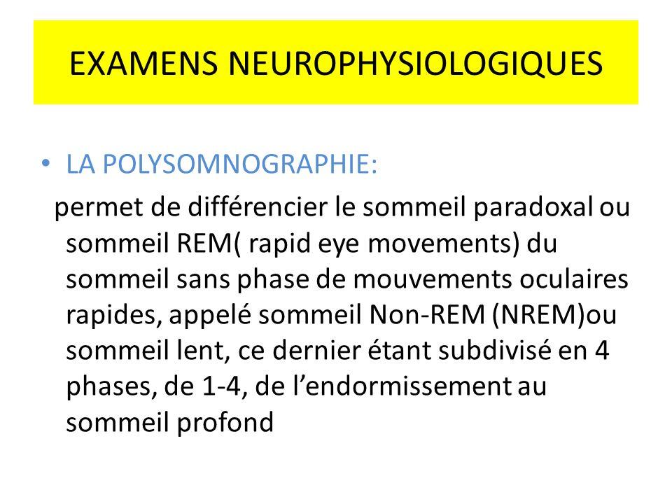 EXAMENS NEUROPHYSIOLOGIQUES