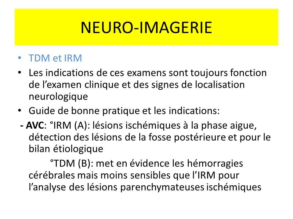 NEURO-IMAGERIE TDM et IRM