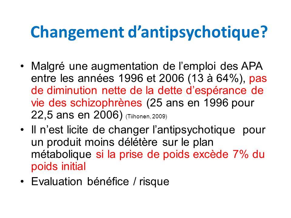 Changement d'antipsychotique