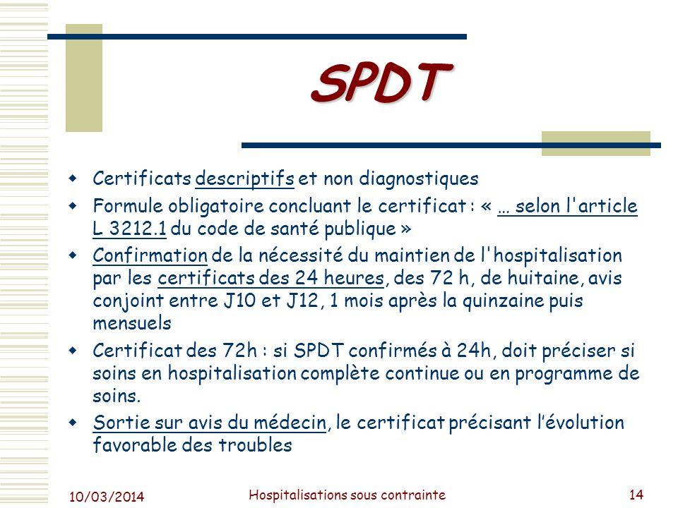 Hospitalisations sous contrainte
