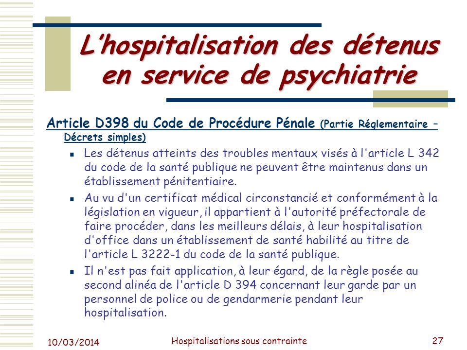 Praticien hospitalier ppt video online t l charger - Procedure hospitalisation d office ...