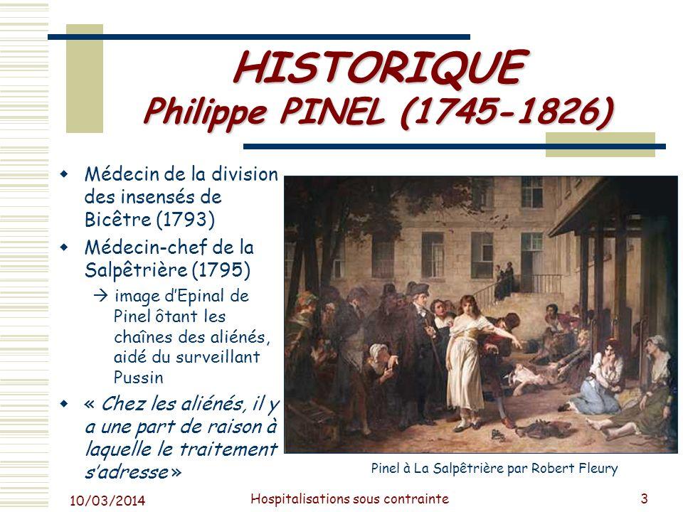 HISTORIQUE Philippe PINEL (1745-1826)