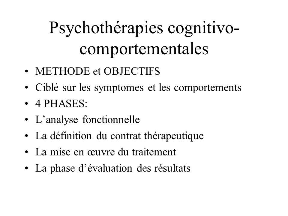 Psychothérapies cognitivo-comportementales