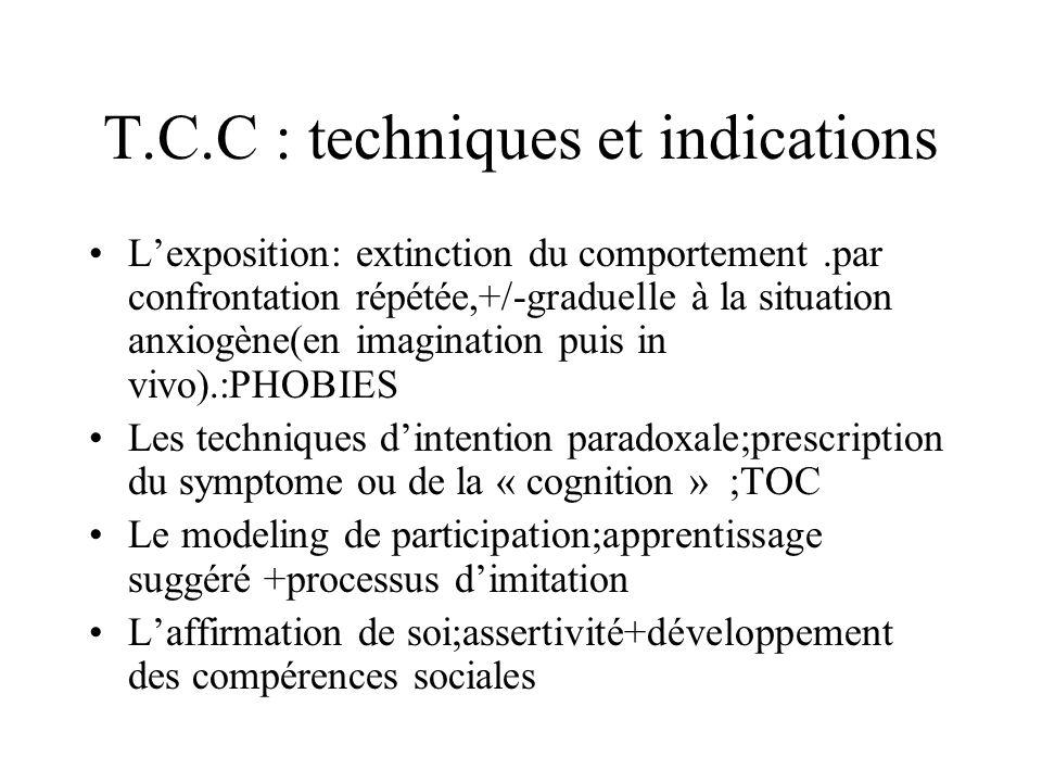 T.C.C : techniques et indications