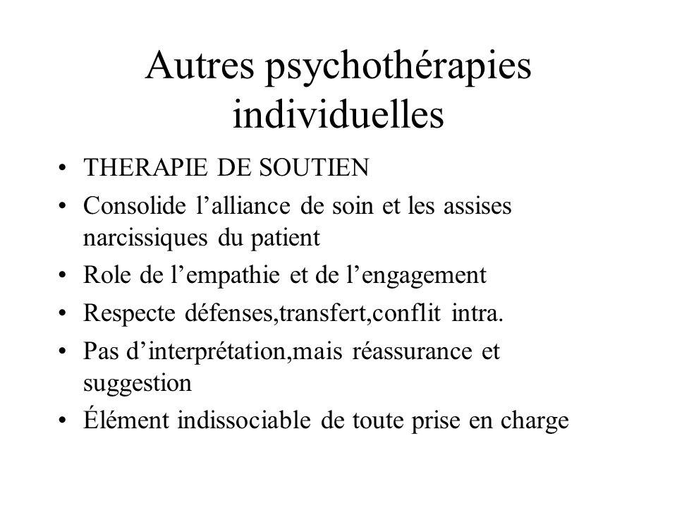 Autres psychothérapies individuelles