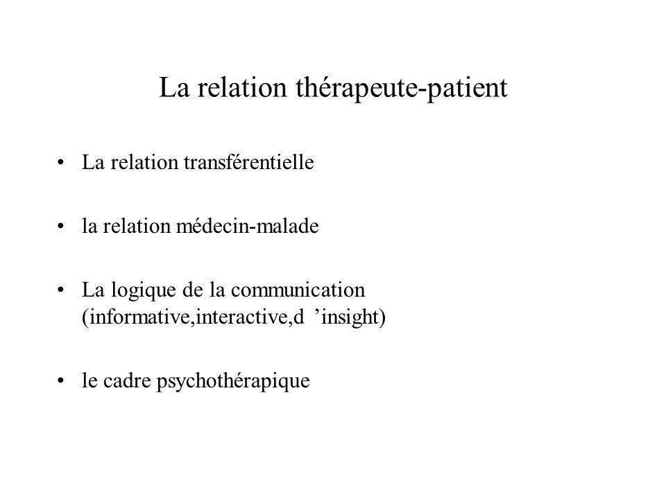 La relation thérapeute-patient