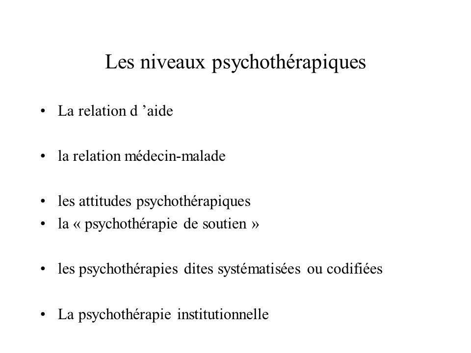 Les niveaux psychothérapiques