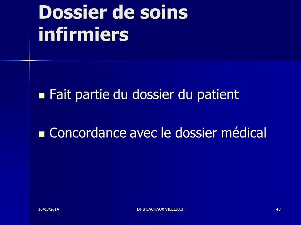 Dossier de soins infirmiers