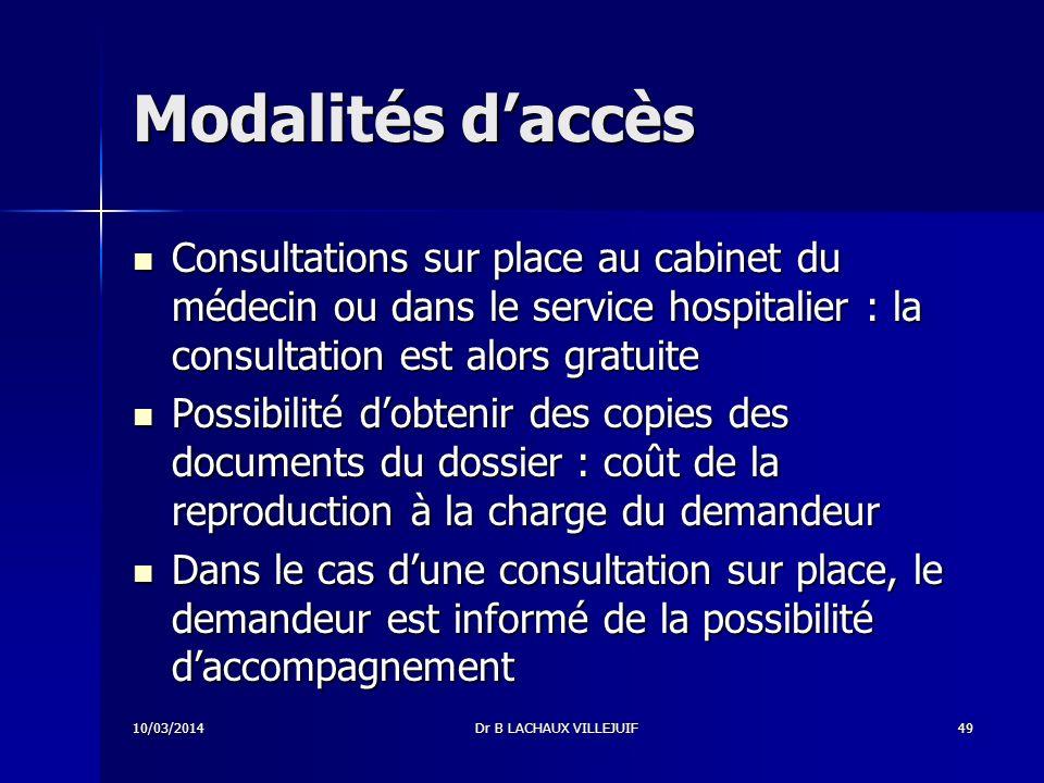Modalités d'accès Consultations sur place au cabinet du médecin ou dans le service hospitalier : la consultation est alors gratuite.