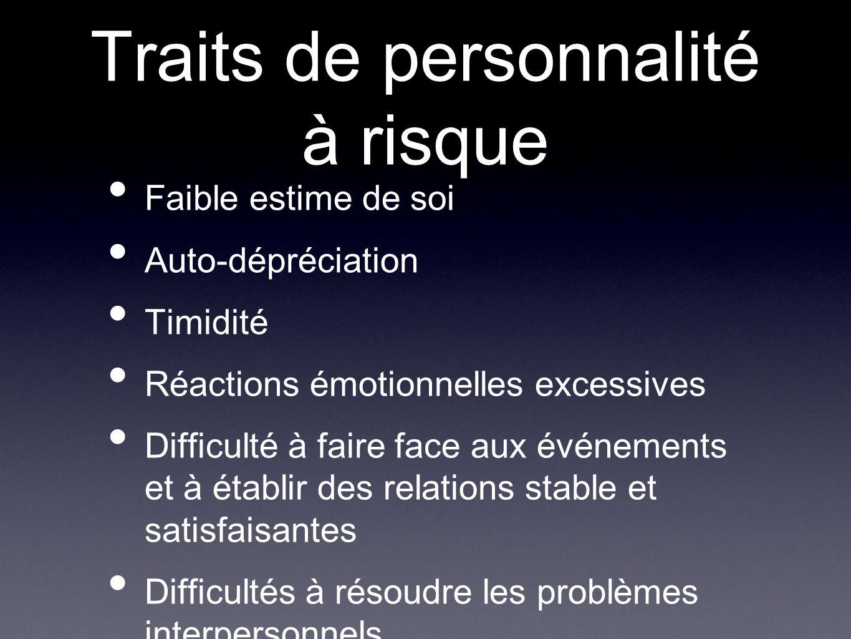 Traits de personnalité à risque