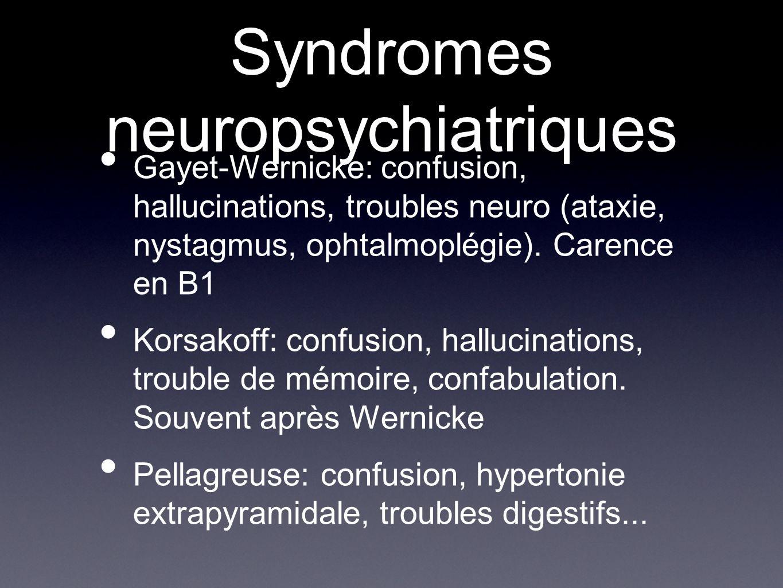 Syndromes neuropsychiatriques