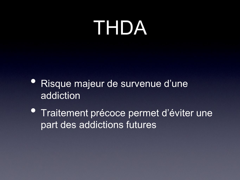 THDA Risque majeur de survenue d'une addiction