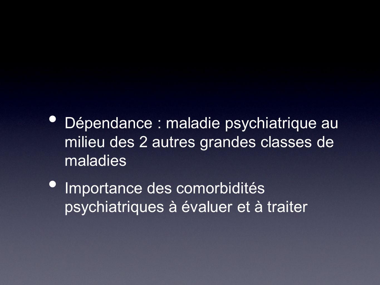Dépendance : maladie psychiatrique au milieu des 2 autres grandes classes de maladies