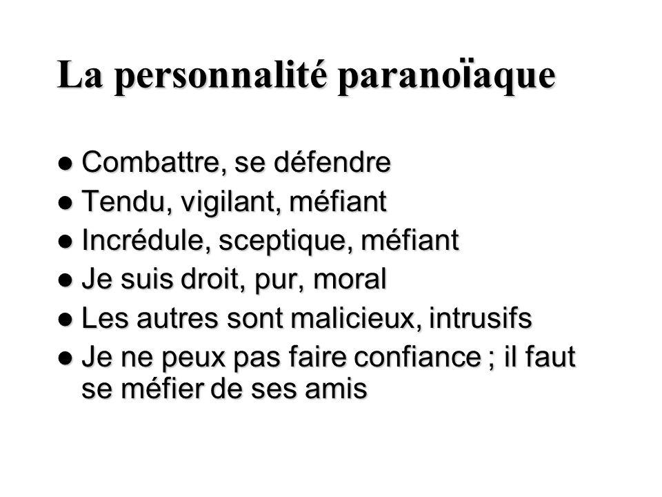 La personnalité paranoïaque