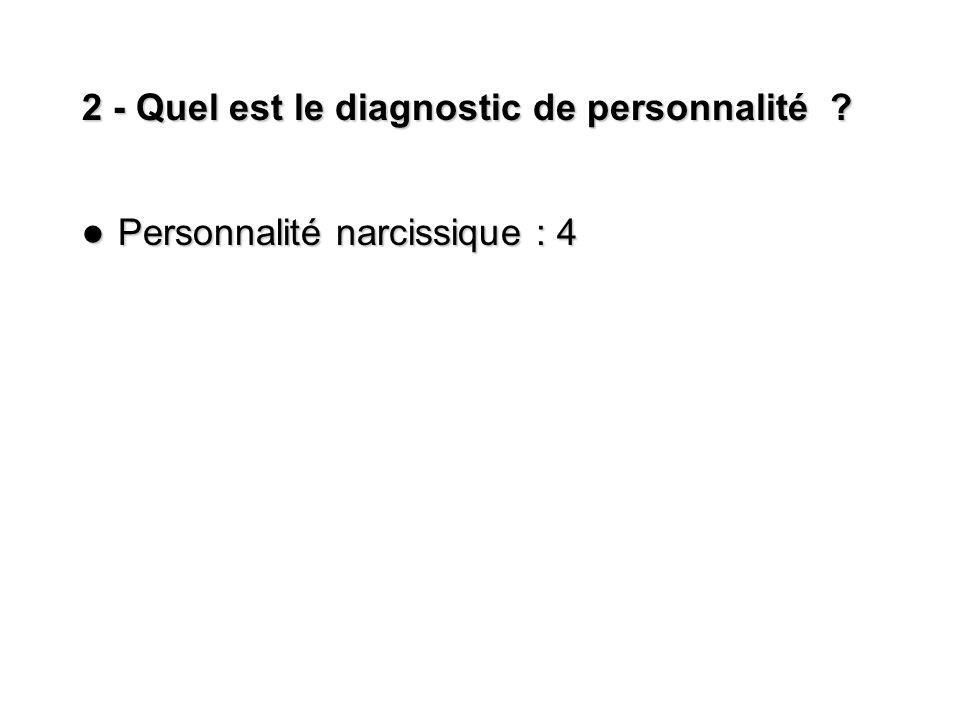 2 - Quel est le diagnostic de personnalité