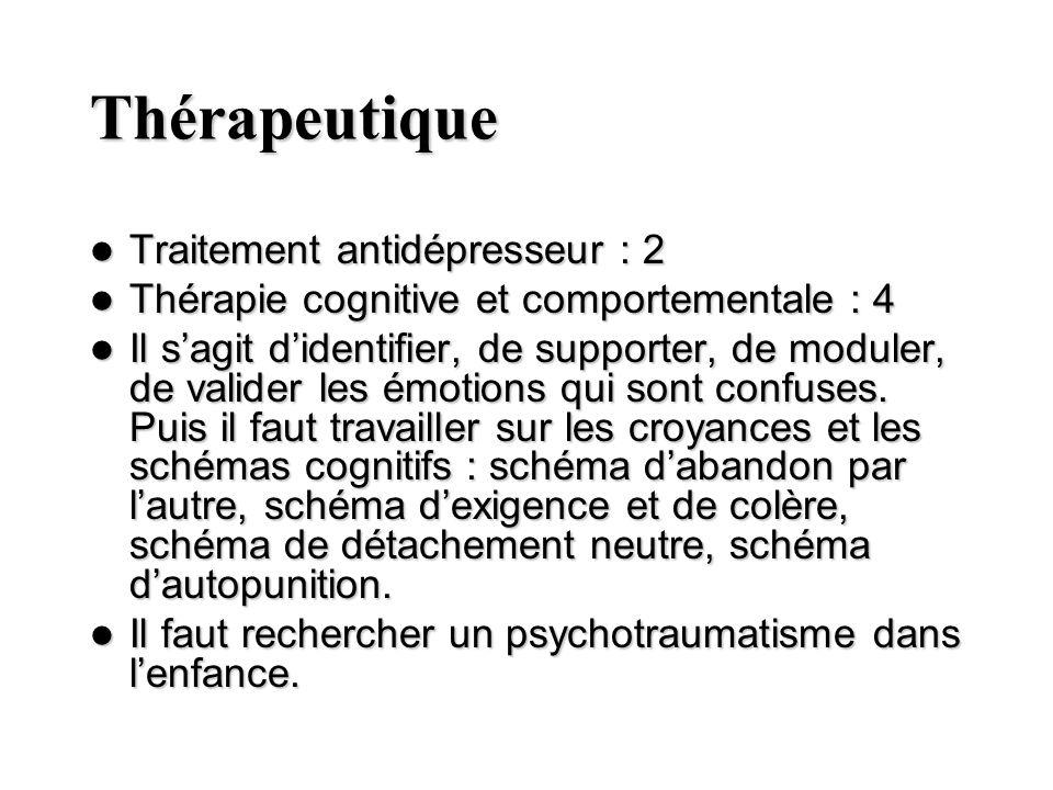 Thérapeutique Traitement antidépresseur : 2
