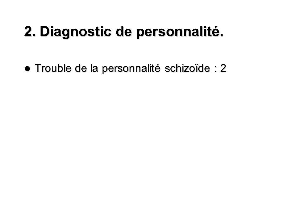 2. Diagnostic de personnalité.