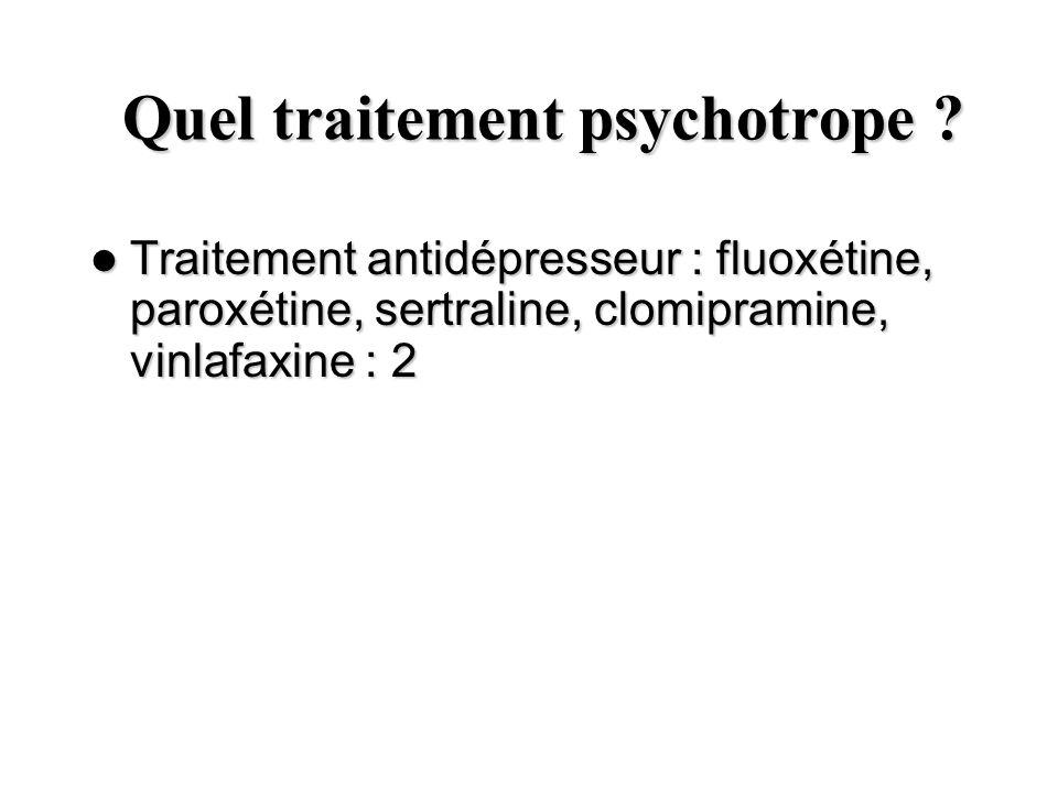 Quel traitement psychotrope