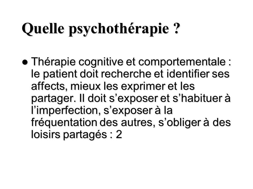 Quelle psychothérapie