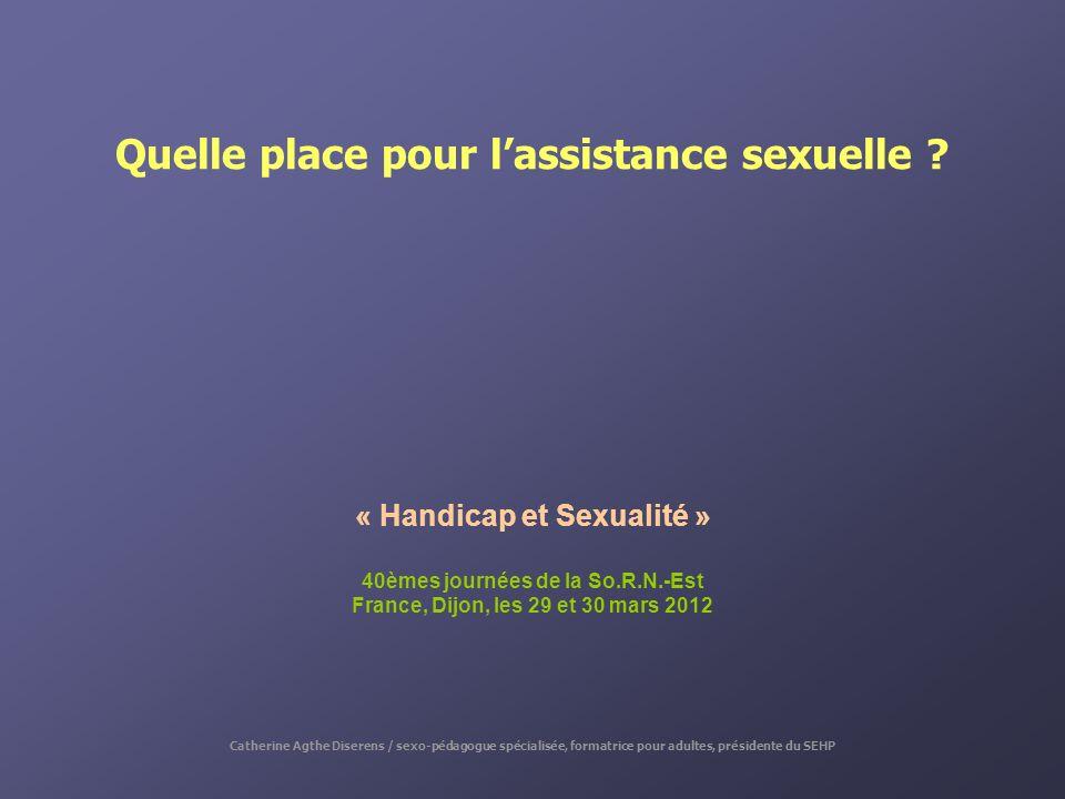Quelle place pour l'assistance sexuelle