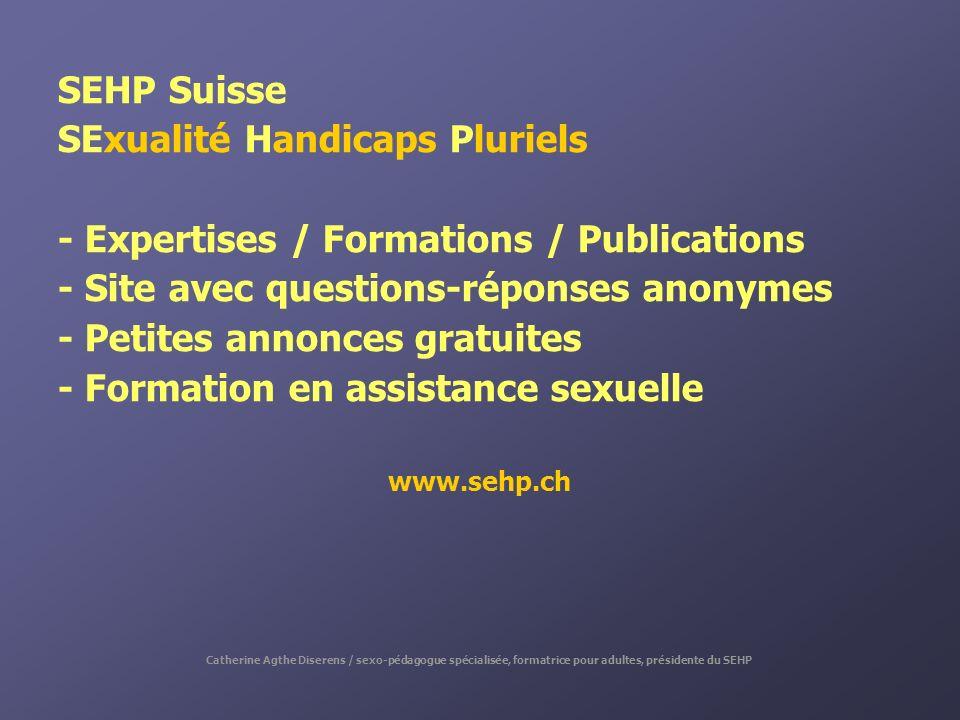 SExualité Handicaps Pluriels - Expertises / Formations / Publications