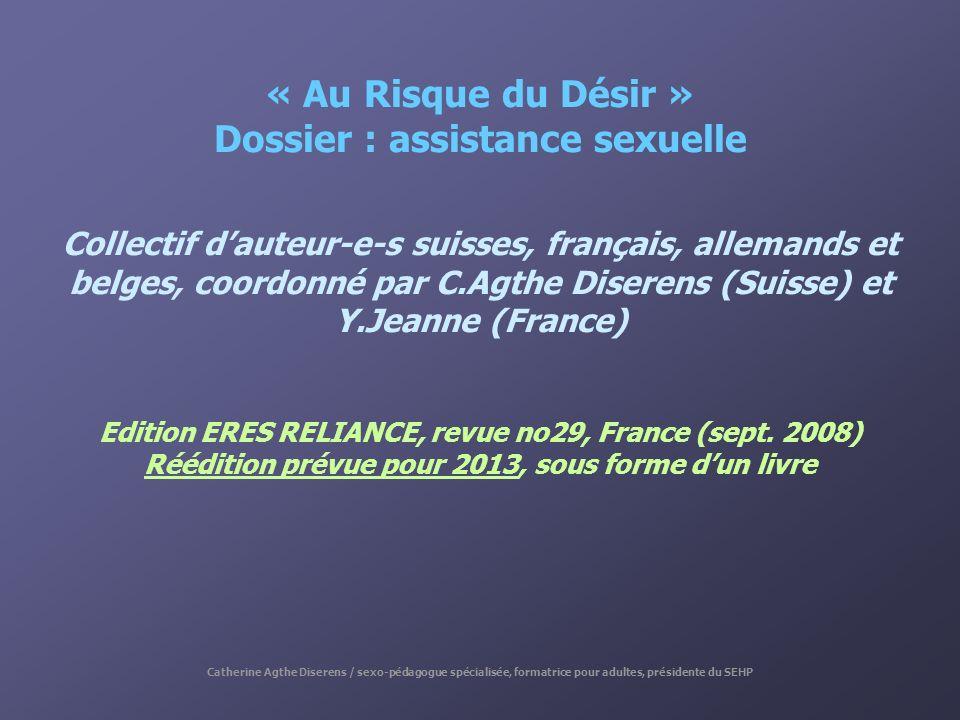 « Au Risque du Désir » Dossier : assistance sexuelle