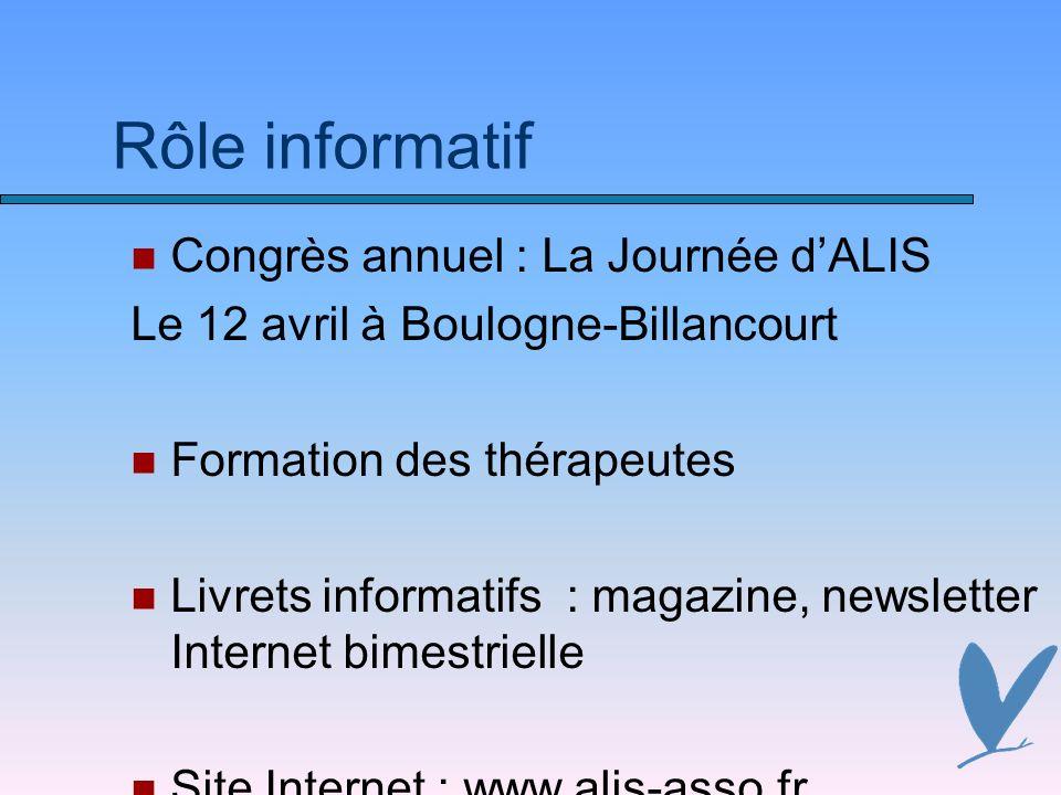Rôle informatif Congrès annuel : La Journée d'ALIS
