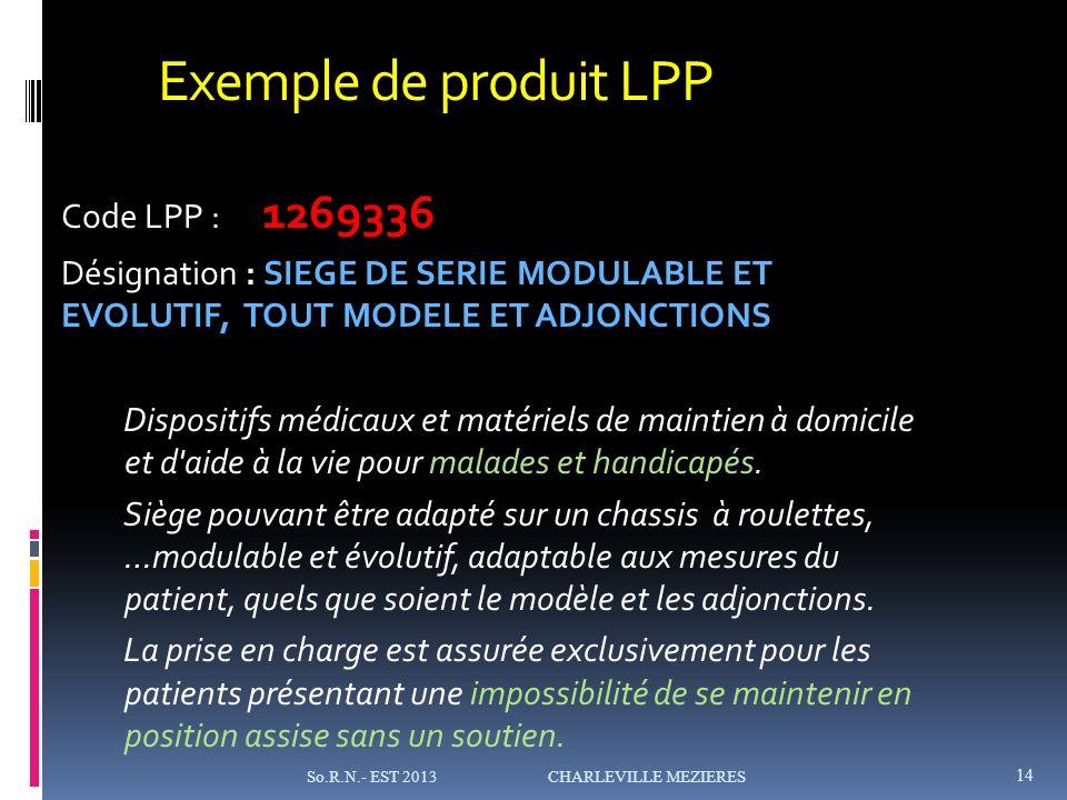 Exemple de produit LPP