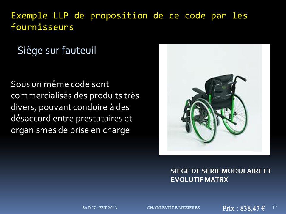 Exemple LLP de proposition de ce code par les fournisseurs