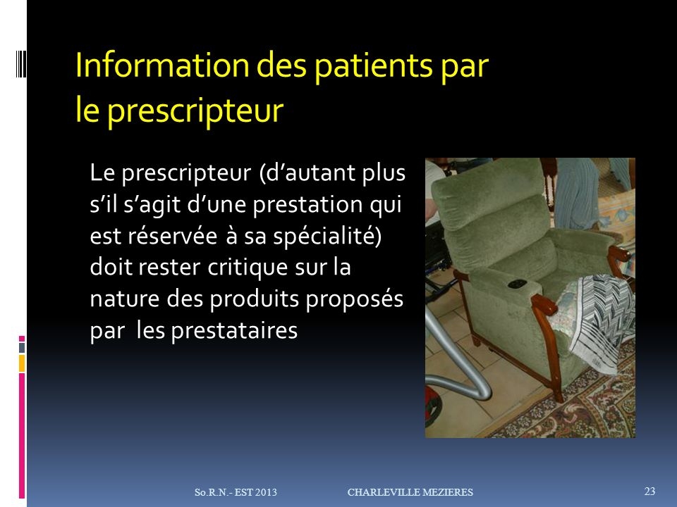 Information des patients par le prescripteur
