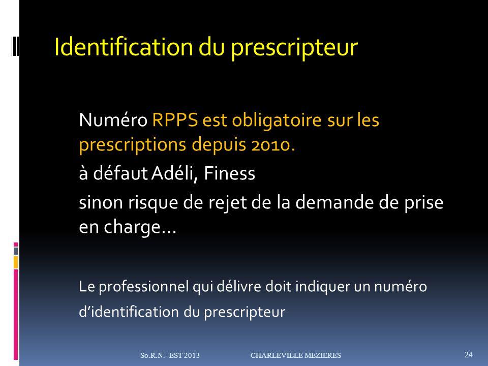 Identification du prescripteur