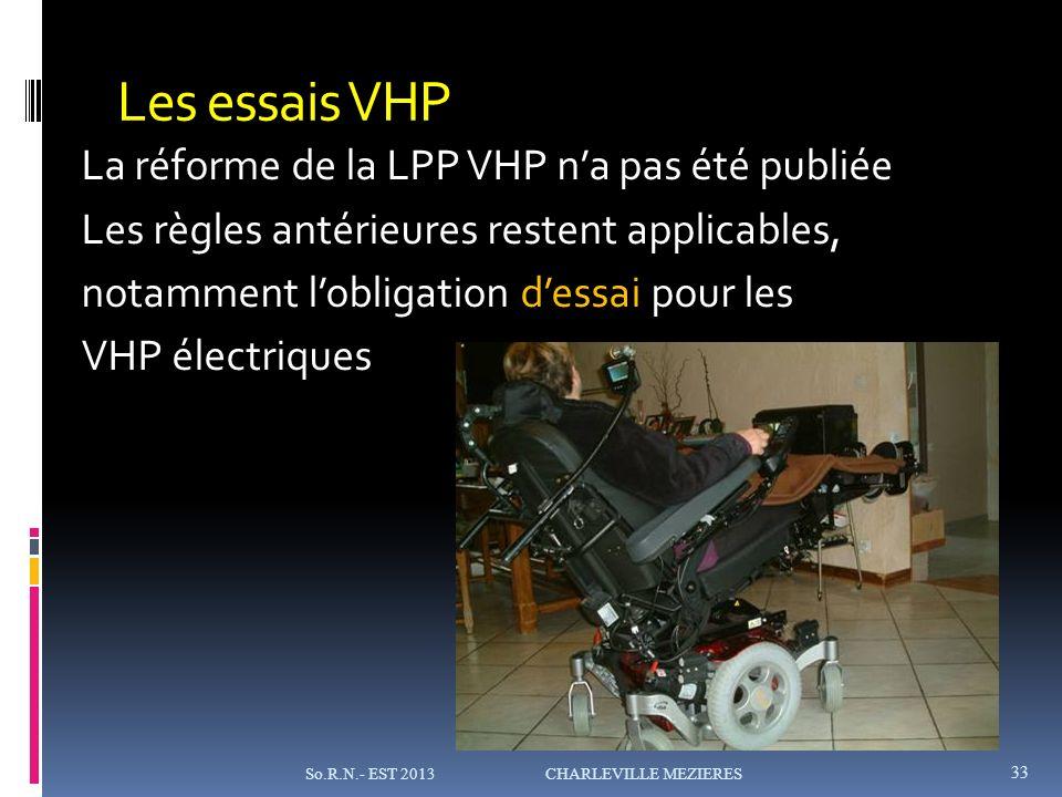 Les essais VHP