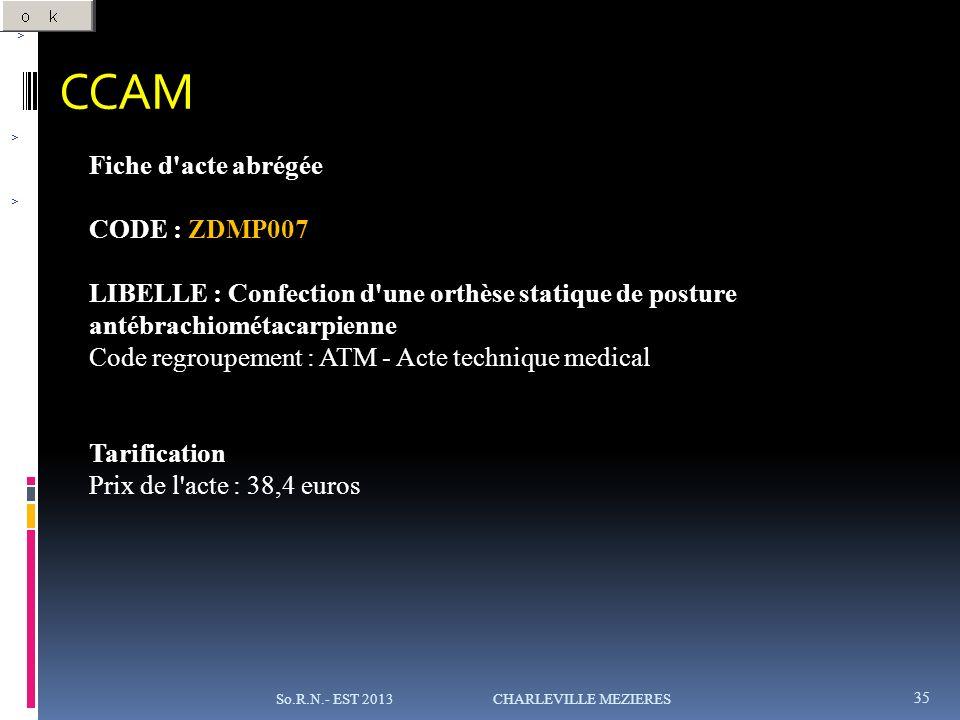 CCAM Fiche d acte abrégée CODE : ZDMP007